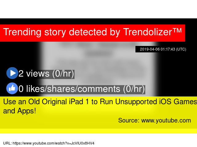 Use an Old Original iPad 1 to Run Unsupported iOS Games and