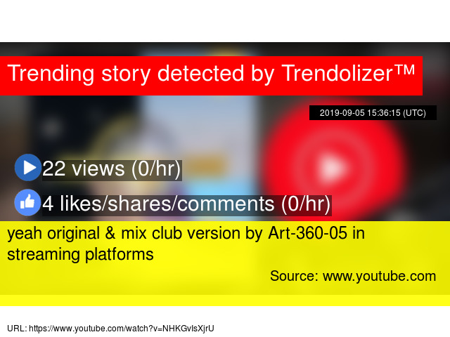 yeah original & mix club version by Art-360-05 in streaming
