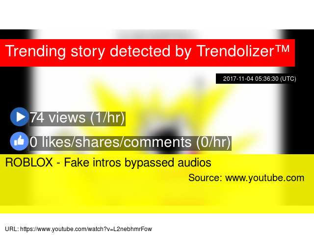 ROBLOX - Fake intros bypassed audios